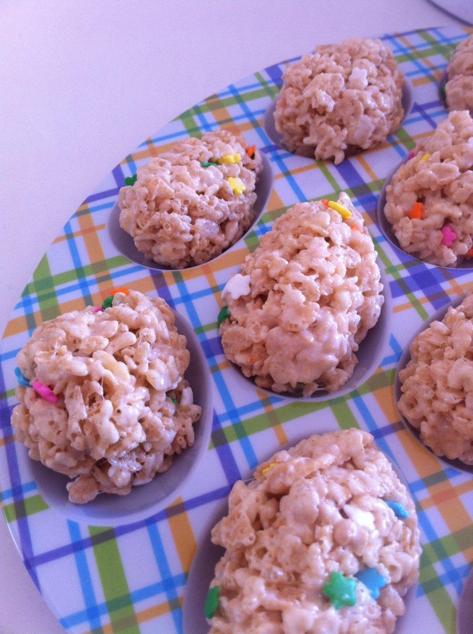 cheating on my diet: cake batter rice crispy easter eggs