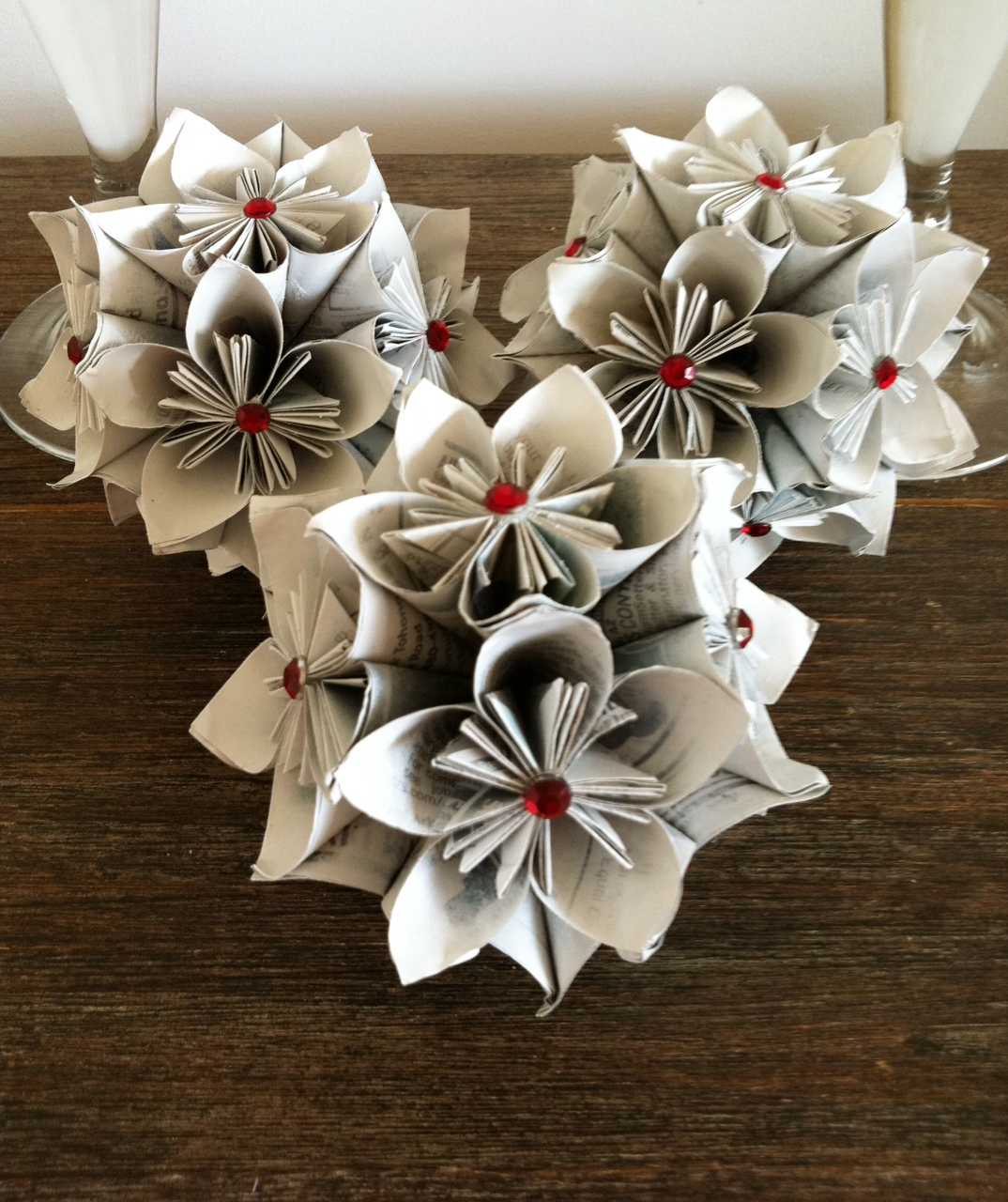 Picture Of Diy Origami Ornaments: Christmas Kusudama Balls * Sparkle Living Blog