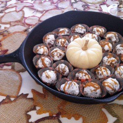 caramel apple rum balls