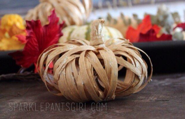 Paper Raffia Pumpkin