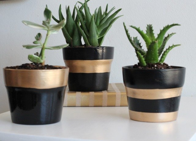 Gold-Leafed Planters