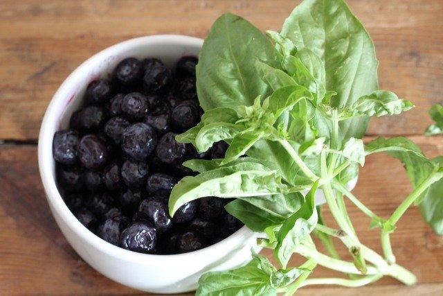 Blueberries + Basil Ice Pops www.sparklelivingblog.com