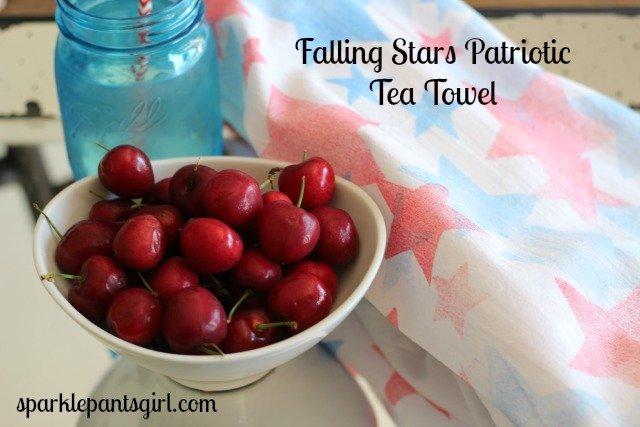 Oh My Stars Patriotic Tea Towel