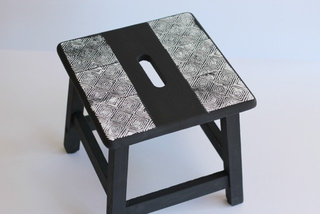 Geometric Stamped Step Stool Sparkle Living Blog