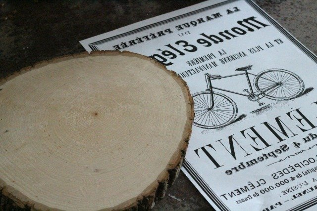 Vintage Inspired Bicycle Image Transfer