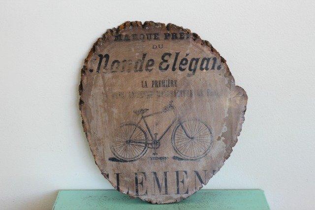 Vintage Bicycle Ad Image Transfer