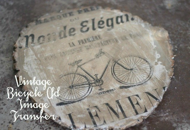 Vintage Bicycle Ad Image Transfer