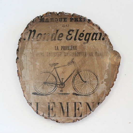 Vintage Bicycle Transfer Art