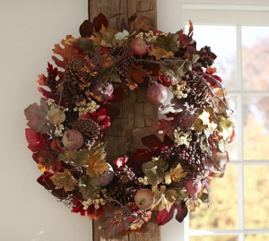 Faux Pomegranate and Pinecone Wreath - Pottery Barn