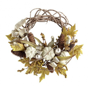 Vine, Leaves and Gourd Wreath - Pier 1