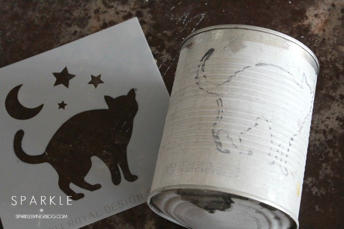 Distressed Halloween Tin Can Candles