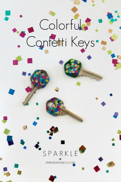 Colorful Confetti Keys
