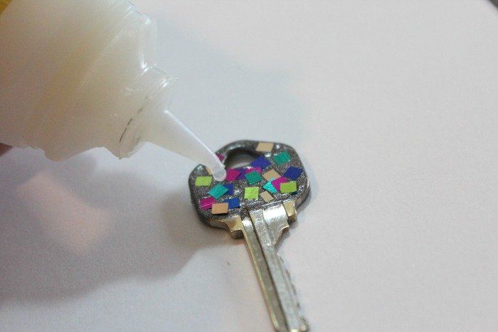 Colorful Confetti Key