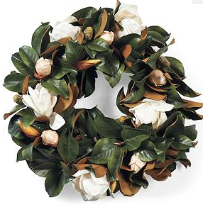 White Magnolia Wreath - Frontgate