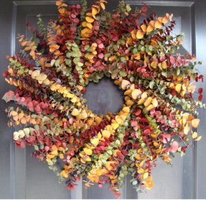 Fall Colors Eucalyptus Wreath - ElegantWreath