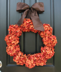 Fall Hydrangeas Orange Pumpkin - Two Inspire You