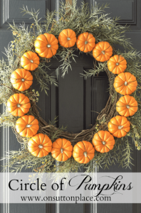 Pumpkin Circle Wreath - On Sutton Place