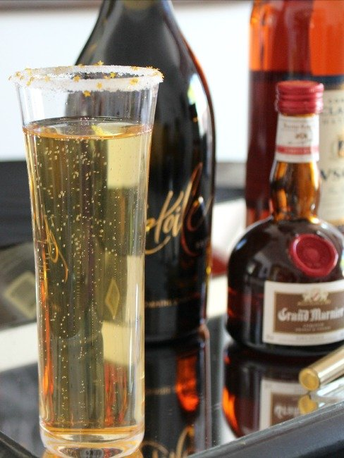 Sparkling Stars Champagne Cocktail