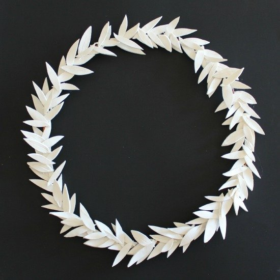 Homemade Clay Olive Wreath