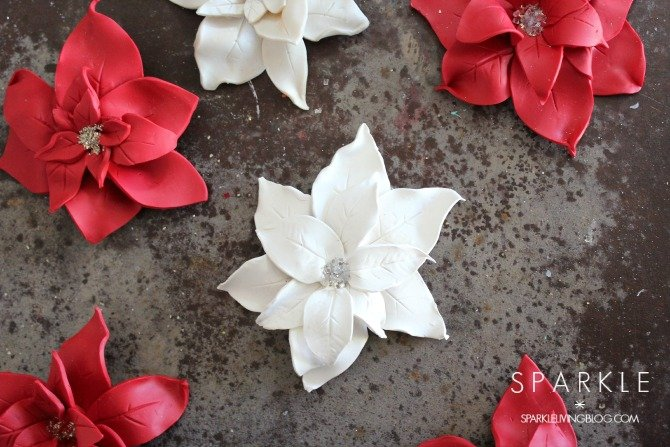 Sculpted Clay Poinsettias