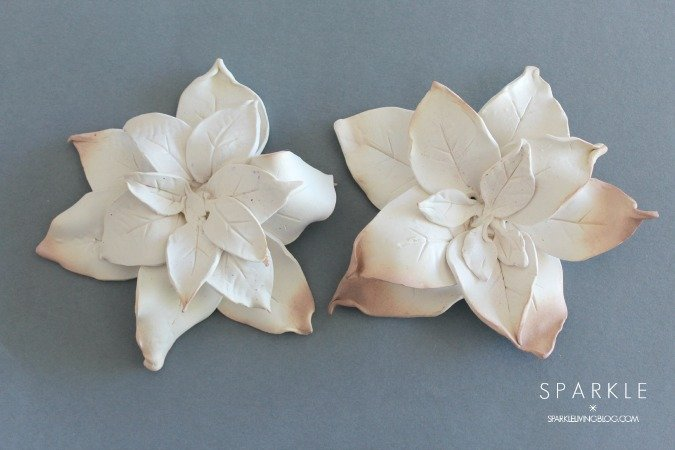 Scuplted Clay Poinsettia
