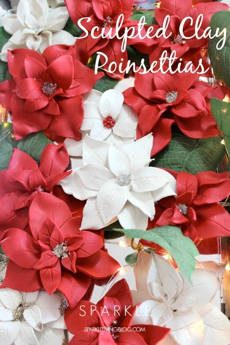 Sculpted Clay Poinsettia
