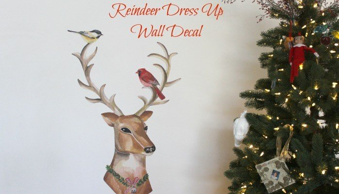 Dress-Up Reindeer Fabric Wall Decals