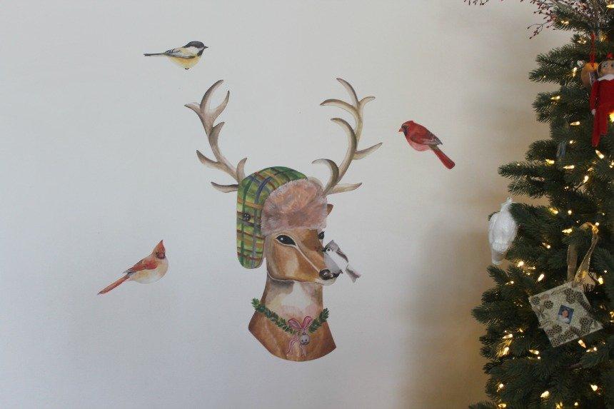 Dress Up Reindeer Wall Decals from Wallternatives