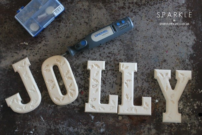 {Holly} Jolly Engraved Letters
