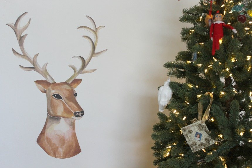 Dress Up Reindeer Decal from Wallternatives