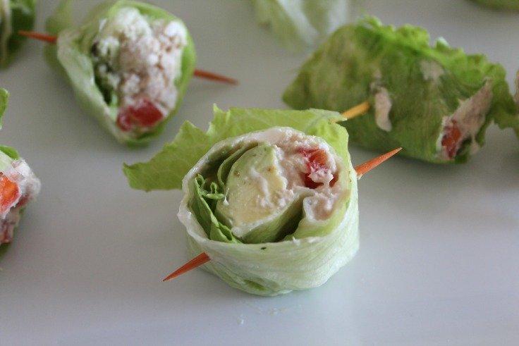 Colorful Tuna Lettuce Wraps