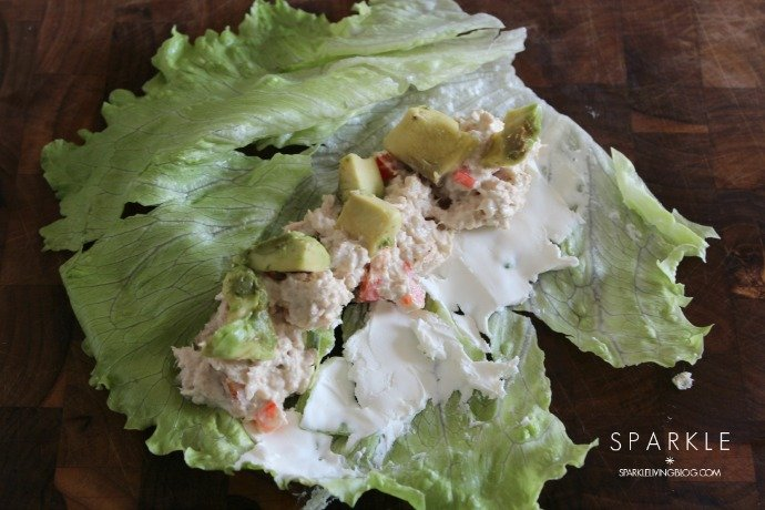 Colorful Tuna Lettuce Wraps