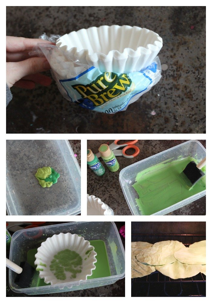 Making colored coffee filters