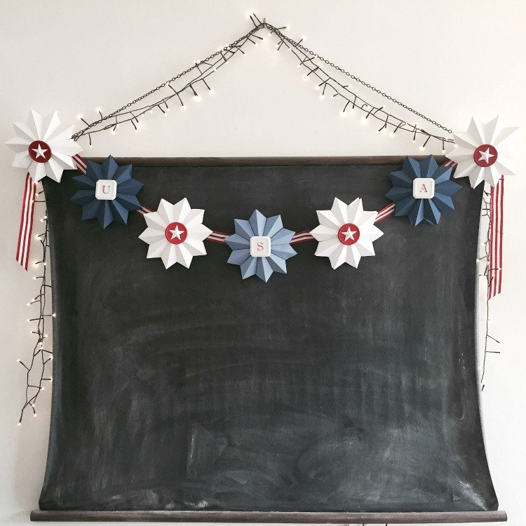 Star-Spangled Garland tutorial for a colorful Independence Day