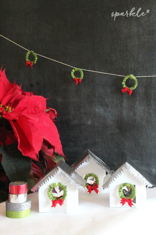 Christmas Houses with Scotch Expressions Tape #ad