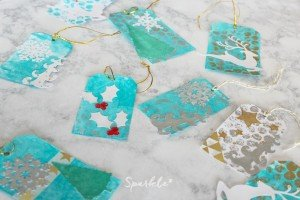 Create your own gorgeous mixed media Christmas gift tags.