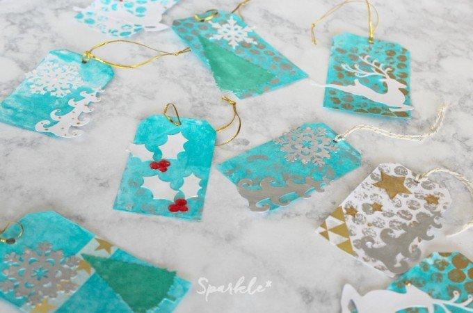 Mixed Media Holiday Gift Tags