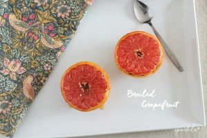 Broiling grapefruit with a touch of sweetener brings so much juiciness out of the fruit.