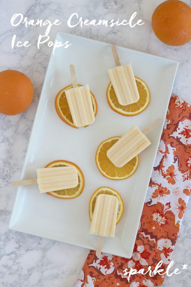 Orange Creamsicle Ice Pops