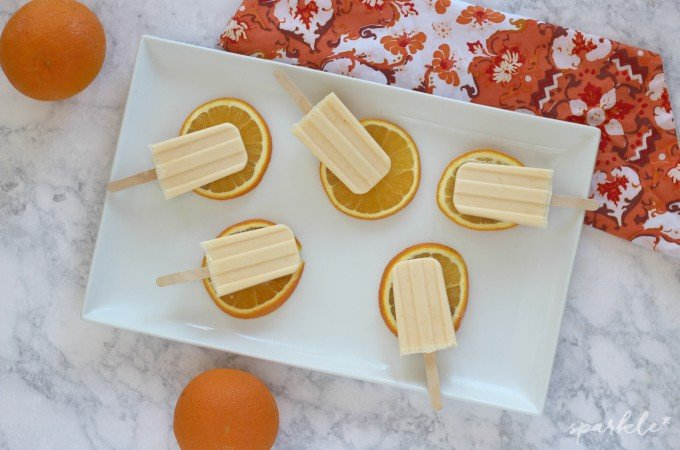 Orange Creamsicle Ice Pops