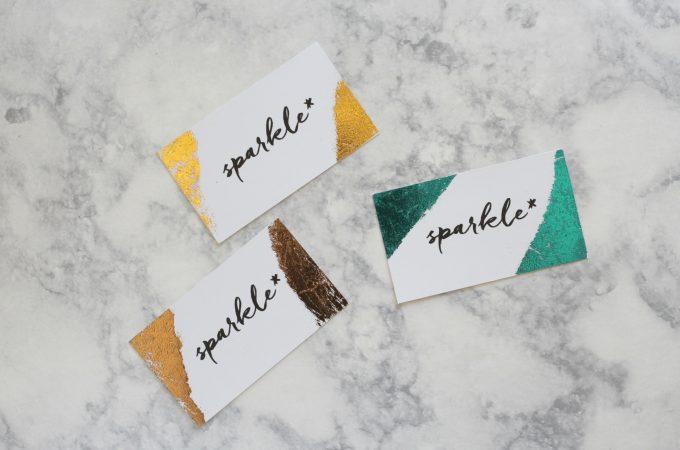 Foil Business Card DIY