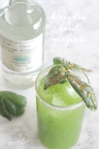 Fresh honeydew melon, basil, lime and tequila make this twist on a classic margarita amazing!