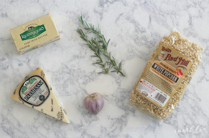 Rosemary, Garlic and Parmesan Popcorn
