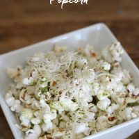 Pesto and Parmesan Popcorn