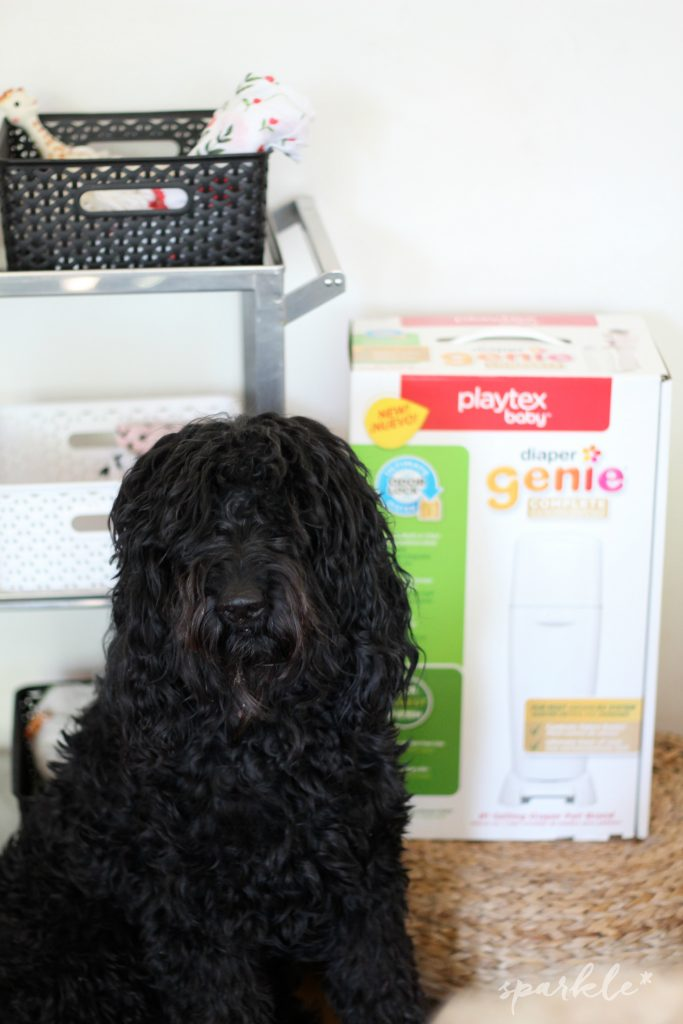 9 Tips to Help Keep New Baby and the Family Dog Safe and Happy. Playtex Diaper Genie at Target