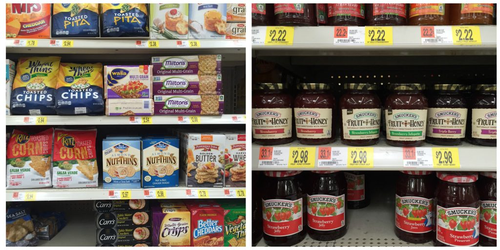 Find Wasa crackers and Smuckers Strawberry Jalapeno Fruit Spread at Walmart.