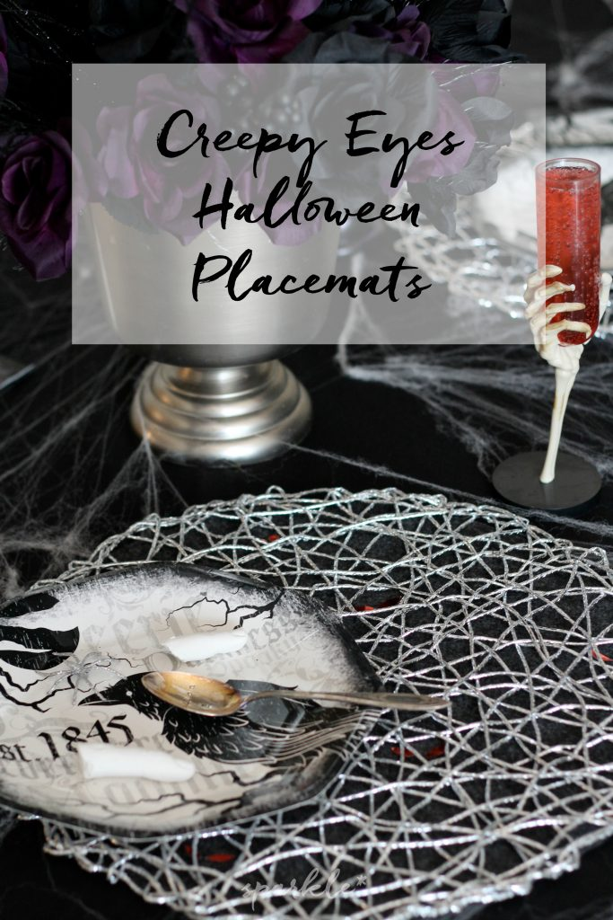 Make your Halloween table just a bit creepier by adding glowing red eyes under the place mats. It's an easy DIY that adds a menacing look to your Halloween decor.