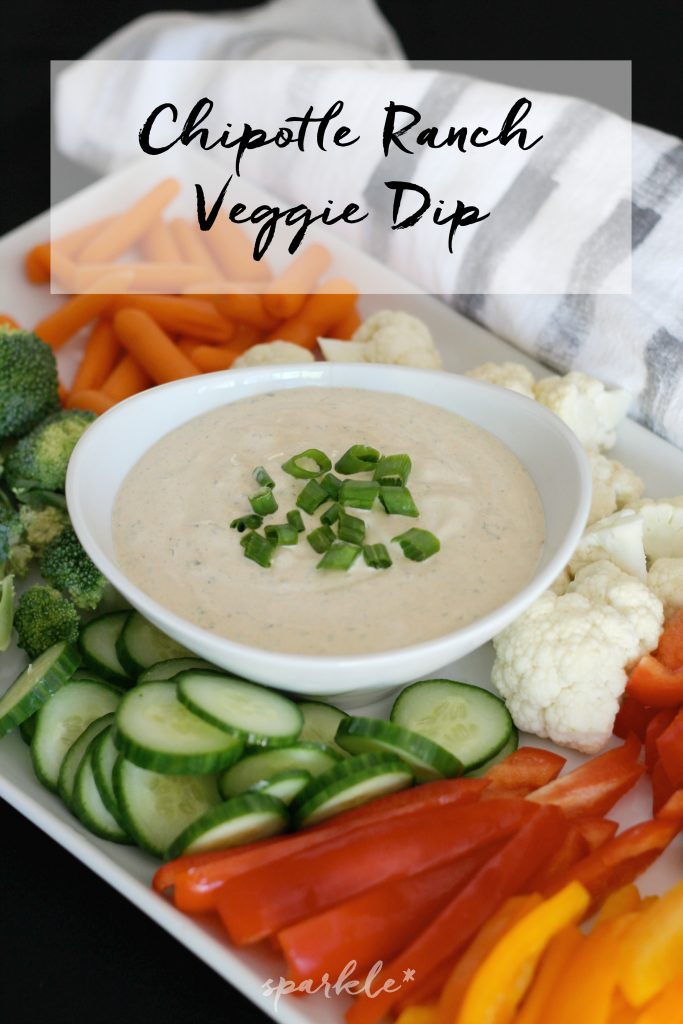 Made from scratch chipotle ranch veggie dip. It's flavorful and not to spicy and the whole family loves it!