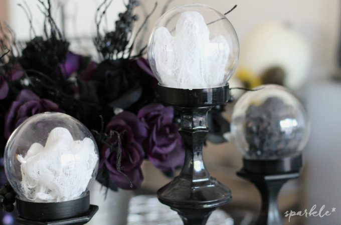 Mini Cheesecloth Ghost Globes