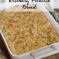 Roasted Garlic and Rosemary Focaccia Bread